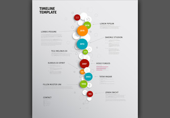 Verical Circles Timeline Infographic
