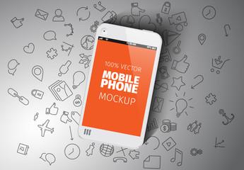 White Smartphone Mockup
