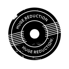 Huge Reduction rubber stamp. Grunge design with dust scratches. Effects can be easily removed for a clean, crisp look. Color is easily changed.