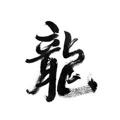 handwritten Chinese calligraphy (Translation: Dragon)