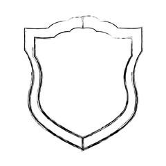 Badge security emblem icon vector illustration graphic design