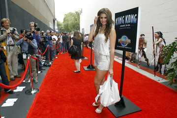 """Playboy model Hope Dworaczyk poses at the opening event for the attraction """"King Kong 360 3-D"""" at Universal Studios Hollywood in Universal City"""