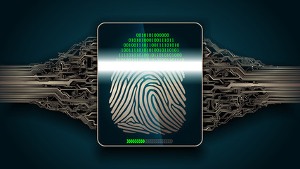 the system of fingerprint scanning - biometric security digital devices