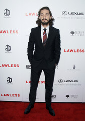 "Cast member Shia LaBeouf poses at the premiere of the film ""Lawless"" in Los Angeles"