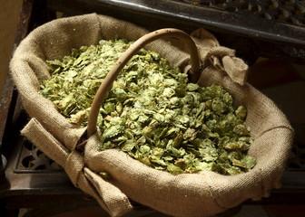 File photo of a basket of hops