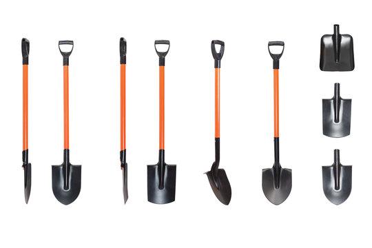 shovel set isolated on white