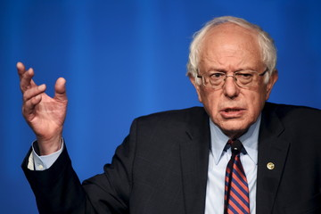Democratic U.S. presidential candidate Sanders speaks at the Pennsylvania AFL-CIO convention in Philadelphia, Pennsylvania
