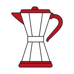 color silhouette image cartoon jar tea pot for hot drinks vector illustration