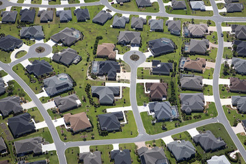 An aerial view of The Villages retirement community in Central Florida