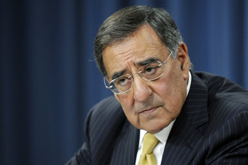 Panetta listens to a question during his first news conference at the Pentagon in Washington