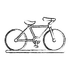 blurred silhouette image cartoon sport bicycle transport vector illustration