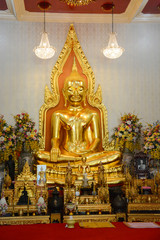 Wat Traimit Golden Buddha Temple in Bangkok, Thailand