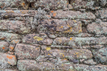 Detail of an old stone wall