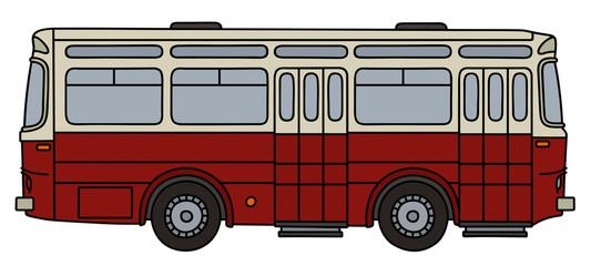 Classic dark red bus