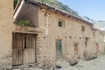 Adobe houses in Ollantaytambo village, Sacred Valley of Incas, Peru