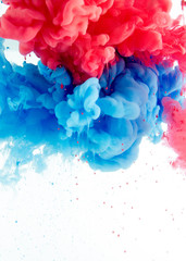 abstract background from ink color mix in water