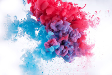 colorful ink in water.