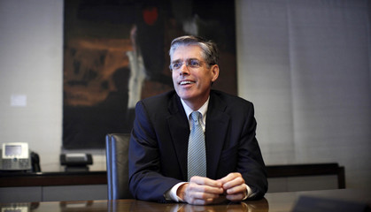 Smith, Chief Executive Officer of Card Services for JPMorgan, poses at his company's offices in New York