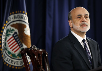 U.S. Federal Reserve Chairman Bernanke speaks at news conference following the monthly two-day meeting in Washington