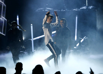 "Andrew Taggart of The Chainsmokers performs ""Closer"" at the 2016 American Music Awards in Los Angeles"