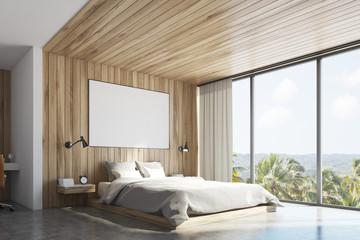 Eco wooden bedroom , corner
