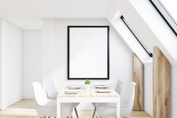 White attic kitchen