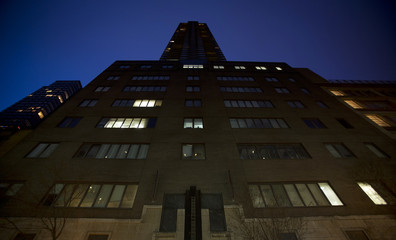 A view of the South Park Tower rental apartment is seen in Manhattan, New York