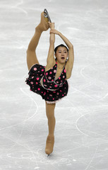 Kanako Murakami of Japan performs in the ladies short program at the Skate America figure skating competition in Portland
