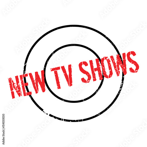 New Tv Shows rubber stamp  Grunge design with dust scratches