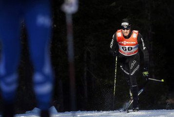 Cologna competes during the men's FIS Tour de ski cross-country skiing 10km classic individual race in Dobbiaco