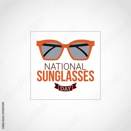 721b2e74754 National Sunglasses Day Vector Design