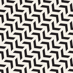 Seamless vector pattern. Abstract geometric lattice background. Rhythmic zigzag structure. Monochrome stylish texture with lines.