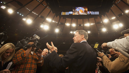 Ratner, President and CEO of The Madison Square Garden Company, speaks during a newsconference to announce details of a newly renovated Madison Square Garden in New York