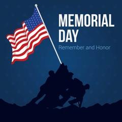 Vector Illustration of Memorial Day.