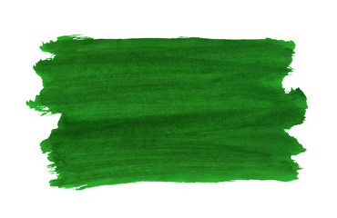 A fragment of the green background painted with watercolors