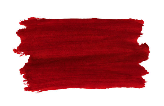 A fragment of the dark red background painted with watercolors