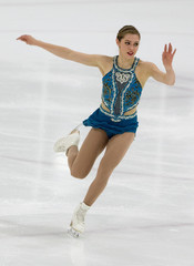 Alaine Chartrand of Canada skates the Women's long program at the Autumn Classic International skating competition in Montreal