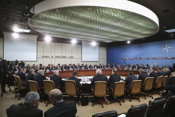 NATO Defense Ministers Meetings get underway at the NATO headquarters in Brussels