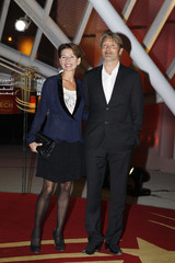 Danish actor Mads Mikkelsen and his wife Hanne Jacobsen attend the 13th Marrakech International Film Festival in Marrakech