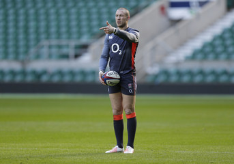 England's Mike Brown during training