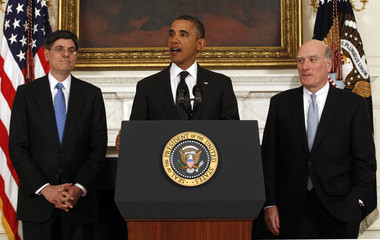 Obama announces Bill Daley's stepping down after only one year in office at the White House in Washington