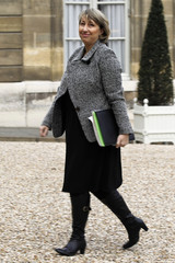 French Solidarity and Social Cohesion junior Minister Marie-Anne Montchamp arrives at the Elysee Palace in Paris
