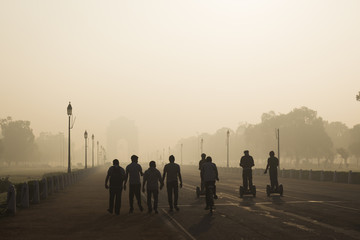 Fototapeten Delhi go morning exercise