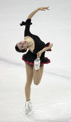 Valentina Marchei of Italy performs during the Ladies Short Program at the ISU World Figure Skating Championships in London, Ontario