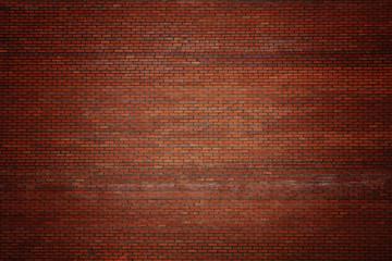 Dark red vignetted brick stone wall background