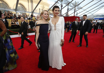 Actresses Watts and Gyllenhaal arrive at the 21st annual Screen Actors Guild Awards in Los Angeles