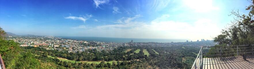 Panoramic view of Huahin city, Thailand