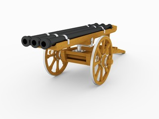 Triple Barrel Cannon, Leonardo da Vinci; Codex Atlanticus 0929r