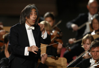 U.S. Director Kent Nagano conducts the Bavarian State Orchestra during a concert for Pope Benedict XVI in Paul VI hall at the Vatican