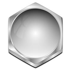 blank Button - 3D illustration